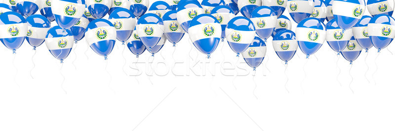 Balloons frame with flag of el salvador Stock photo © MikhailMishchenko