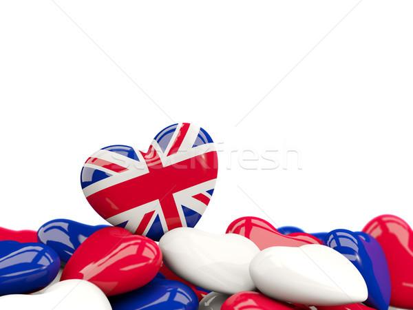 Heart with flag of united kingdom Stock photo © MikhailMishchenko