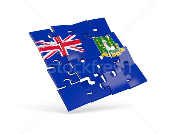 Puzzel vlag Virgin Islands brits geïsoleerd witte Stockfoto © MikhailMishchenko