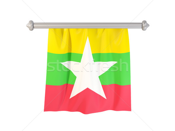 Pennant with flag of myanmar Stock photo © MikhailMishchenko