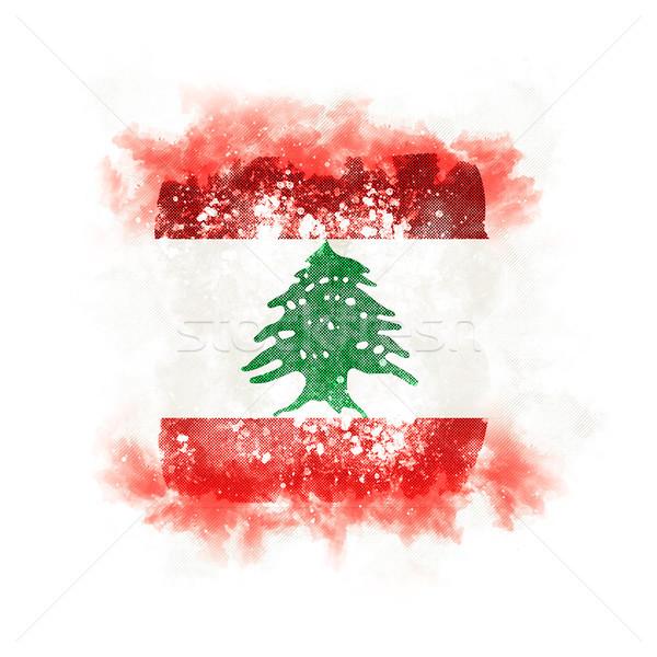 Tér grunge zászló Libanon 3d illusztráció retro Stock fotó © MikhailMishchenko