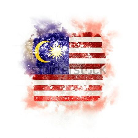 Vierkante grunge vlag Singapore 3d illustration retro Stockfoto © MikhailMishchenko
