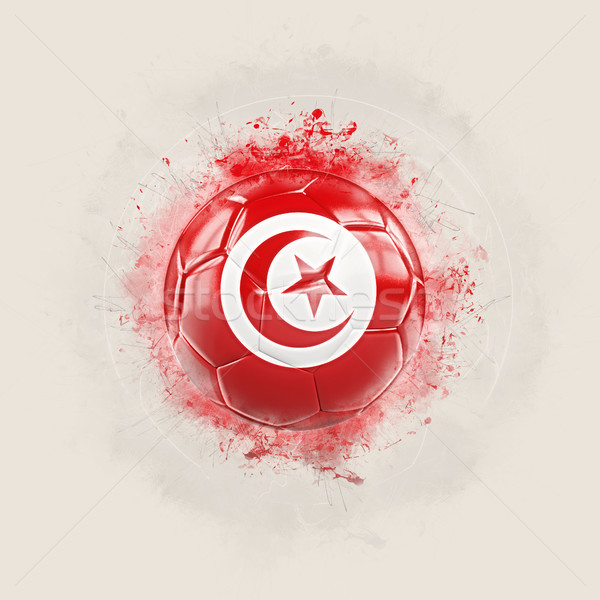 Grunge football with flag of tunisia Stock photo © MikhailMishchenko