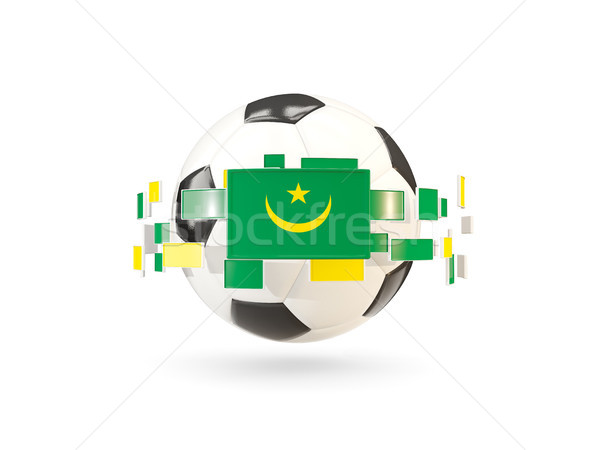 サッカーボール 行 フラグ フラグ モーリタニア ストックフォト © MikhailMishchenko