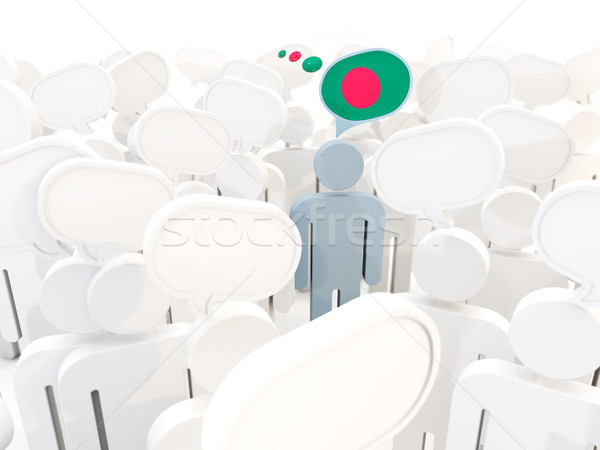 человека флаг Бангладеш толпа 3d иллюстрации знак Сток-фото © MikhailMishchenko