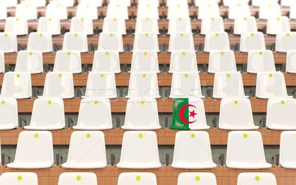 Estádio assento bandeira Argélia branco Foto stock © MikhailMishchenko