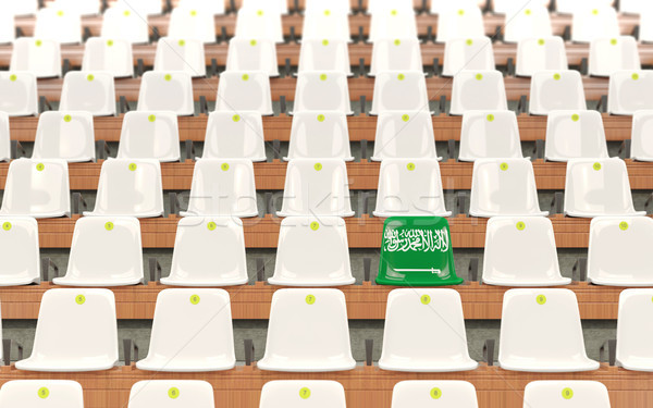 Stadium seat with flag of saudi arabia Stock photo © MikhailMishchenko