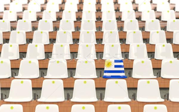 スタジアム 座席 フラグ ウルグアイ 白 ストックフォト © MikhailMishchenko