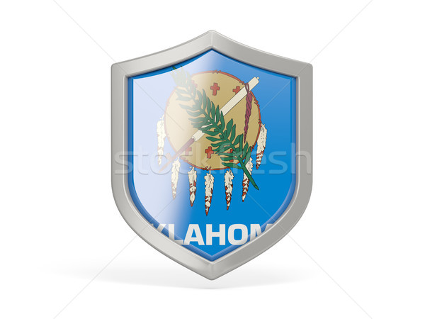 щит икона флаг Оклахома Соединенные Штаты местный Сток-фото © MikhailMishchenko
