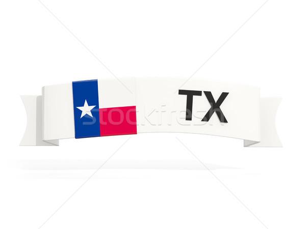 Texas banderą banner skrót odizolowany biały Zdjęcia stock © MikhailMishchenko