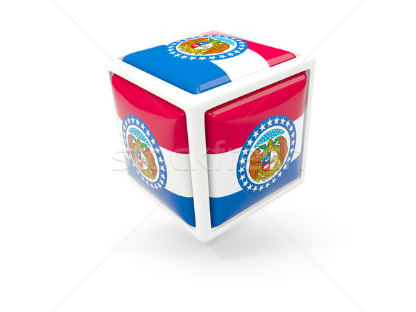 Misuri bandera cubo icono Estados Unidos local Foto stock © MikhailMishchenko