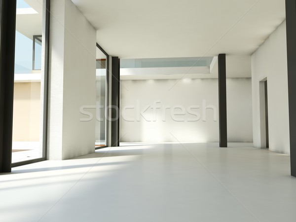 Stock photo: Empty apartment with white walls