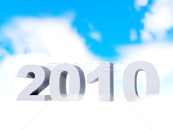 2010 небе дизайна синий время облаке Сток-фото © MikhailMishchenko