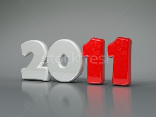 2011 signo lápices año nuevo símbolo tiempo Foto stock © MikhailMishchenko