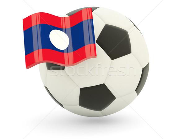 サッカー フラグ ラオス 孤立した 白 スポーツ ストックフォト © MikhailMishchenko