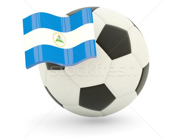 Futebol bandeira Nicarágua isolado branco esportes Foto stock © MikhailMishchenko