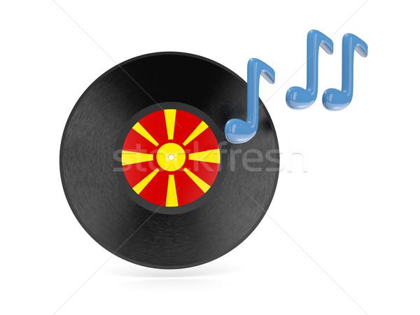 виниловых диск флаг Македонии изолированный белый Сток-фото © MikhailMishchenko