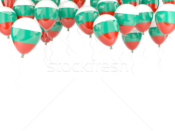 Balon ramki banderą Bułgaria odizolowany biały Zdjęcia stock © MikhailMishchenko
