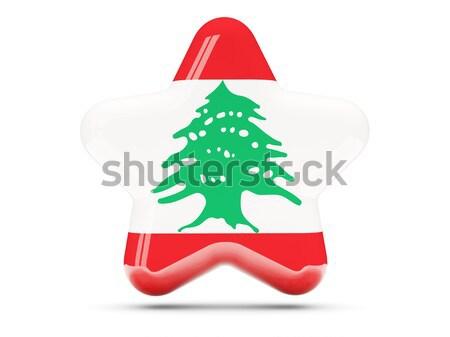 икона флаг Ливан изолированный белый путешествия Сток-фото © MikhailMishchenko