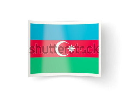 Placu ikona banderą Azerbejdżan metal ramki Zdjęcia stock © MikhailMishchenko
