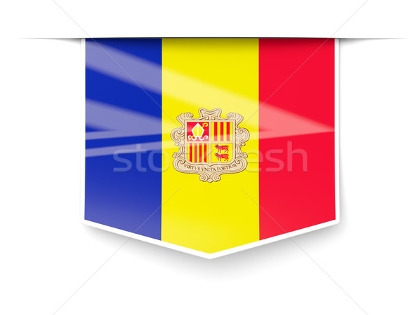 Square label with flag of andorra Stock photo © MikhailMishchenko
