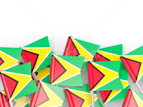 Vlag pin Guyana geïsoleerd witte wereld Stockfoto © MikhailMishchenko
