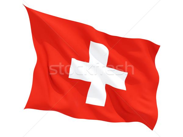 Bandera Suiza aislado blanco Foto stock © MikhailMishchenko