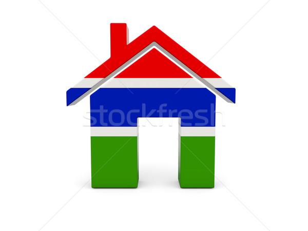 ホーム フラグ ガンビア 孤立した 白 検索 ストックフォト © MikhailMishchenko