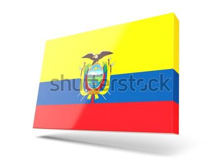 Flag label of ecuador Stock photo © MikhailMishchenko