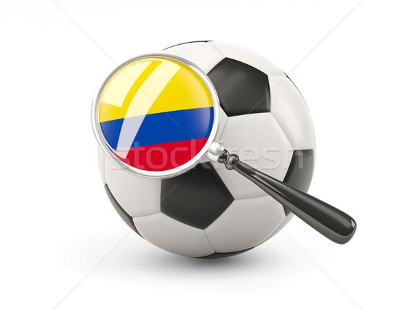 футбола флаг Колумбия изолированный белый Сток-фото © MikhailMishchenko