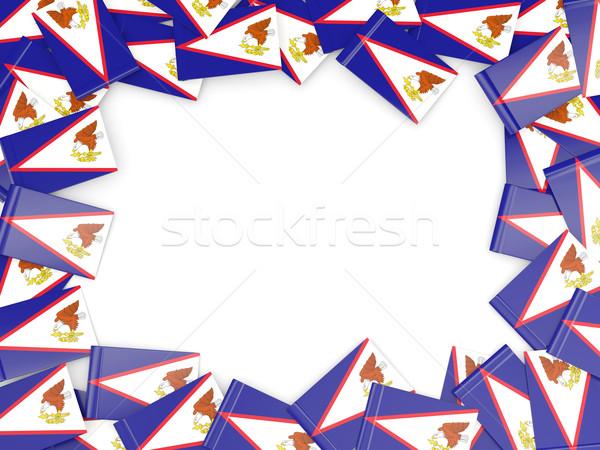 Quadro bandeira Samoa Americana isolado branco fundo Foto stock © MikhailMishchenko