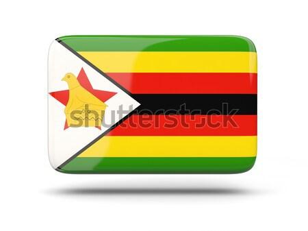 広場 ステッカー フラグ ジンバブエ 孤立した 白 ストックフォト © MikhailMishchenko