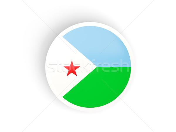 Naklejki banderą Dżibuti odizolowany biały podróży Zdjęcia stock © MikhailMishchenko