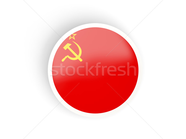 Round sticker with flag of ussr Stock photo © MikhailMishchenko