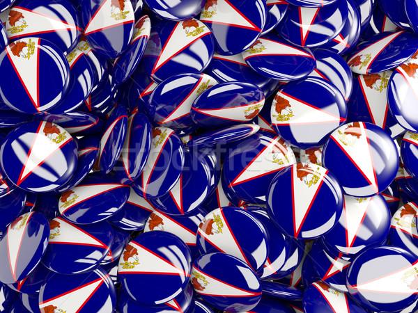 Bandeira Samoa Americana mundo fundo país círculo Foto stock © MikhailMishchenko