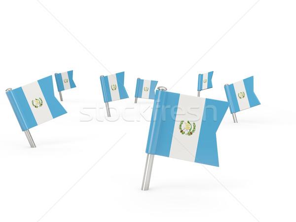 квадратный флаг Гватемала изолированный белый стране Сток-фото © MikhailMishchenko