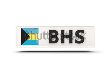 Amor Bahamas assinar isolado branco bandeira Foto stock © MikhailMishchenko