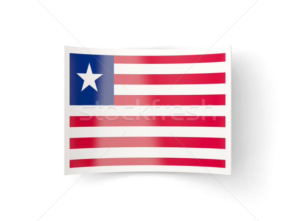 Bent icon with flag of liberia Stock photo © MikhailMishchenko