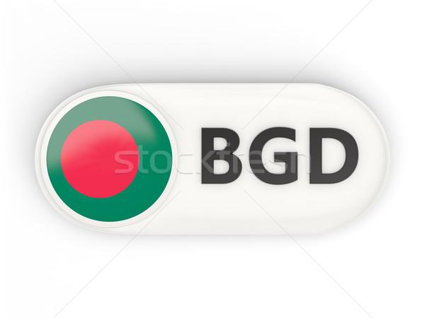 ícone bandeira Bangladesh iso código país Foto stock © MikhailMishchenko