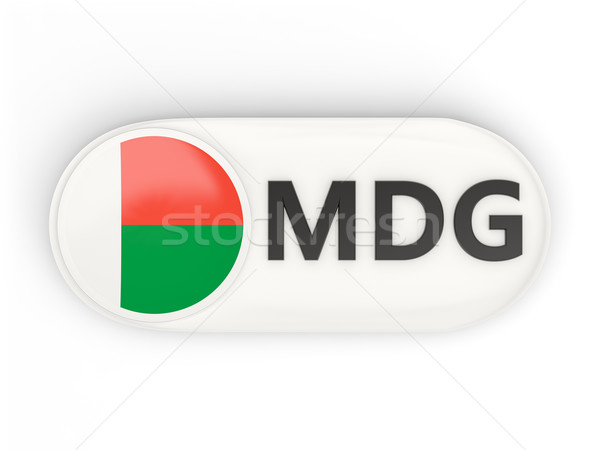Round icon with flag of madagascar Stock photo © MikhailMishchenko