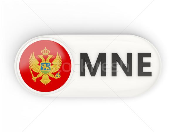 Icon vlag Montenegro iso code land Stockfoto © MikhailMishchenko