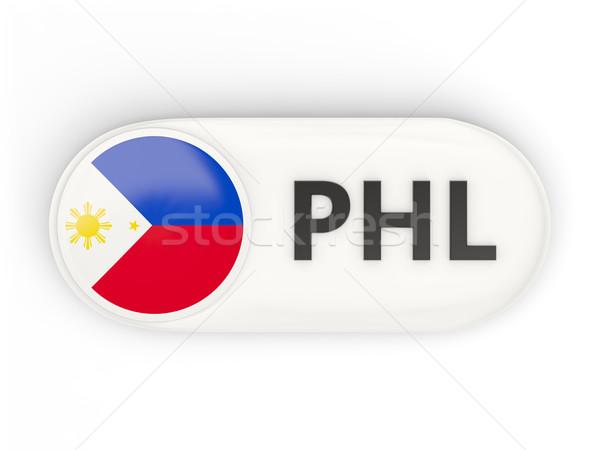 Round icon with flag of philippines Stock photo © MikhailMishchenko