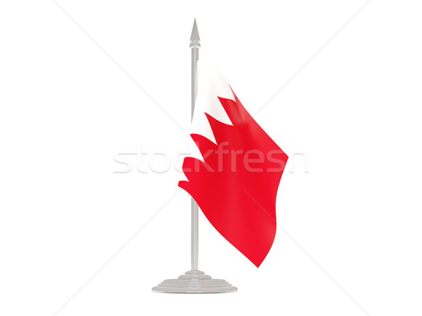 Bandera Bahréin asta de bandera 3d aislado blanco Foto stock © MikhailMishchenko