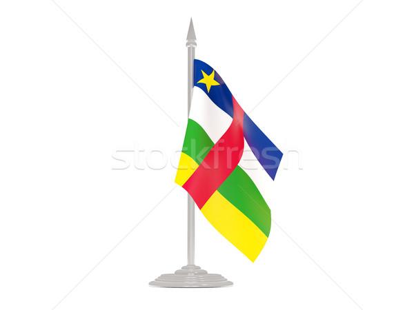 флаг центральный африканских республика флагшток 3d визуализации Сток-фото © MikhailMishchenko