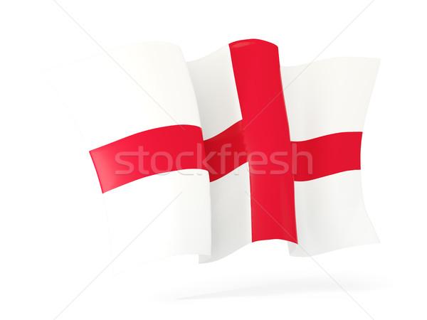 Banderą Anglii 3d ilustracji odizolowany biały Zdjęcia stock © MikhailMishchenko