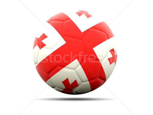 Futball zászló Grúzia 3d illusztráció futball sport Stock fotó © MikhailMishchenko