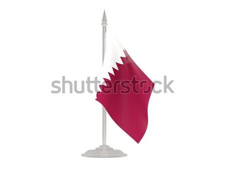 Сток-фото: флаг · Мальта · флагшток · 3d · визуализации · изолированный · белый