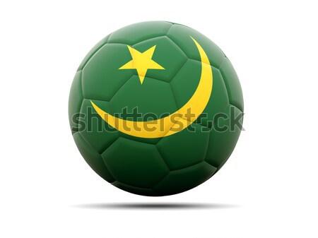 Football with flag of mauritania Stock photo © MikhailMishchenko