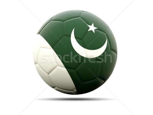 Futbol bayrak Pakistan 3d illustration futbol spor Stok fotoğraf © MikhailMishchenko