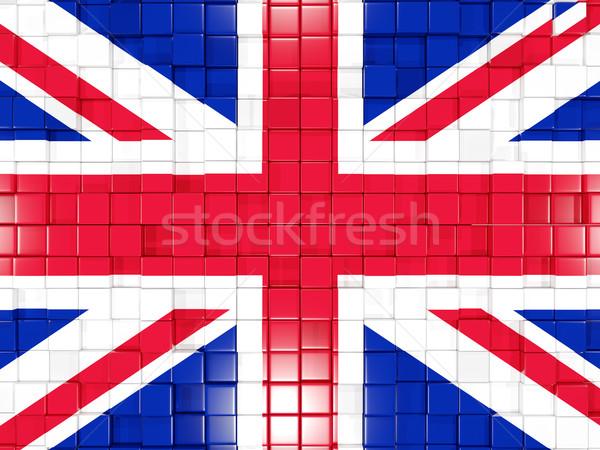 Piazza bandiera Regno Unito 3D mosaico Foto d'archivio © MikhailMishchenko